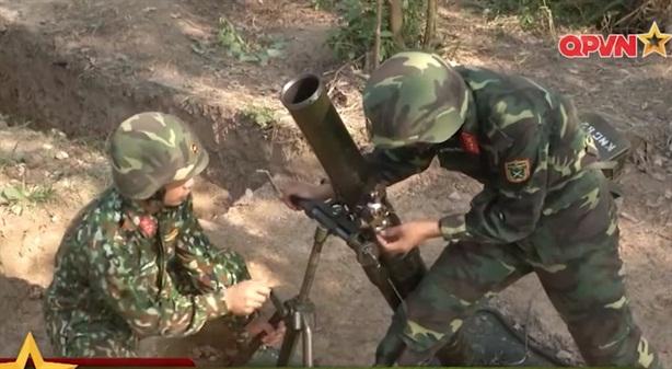 Pháo binh Việt Nam thi bắn cối hạng nặng tại Nga