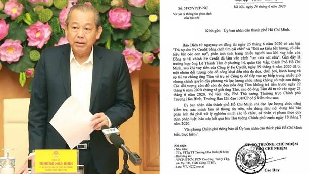 Phó Thủ tướng: Làm rõ vụ tự tử vì bị đòi nợ