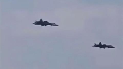 Su-57 lần đầu phối hợp tác chiến cùng Su-35 tại Syria