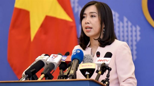 Trao công hàm phản đối Trung Quốc tập trận ở Hoàng Sa