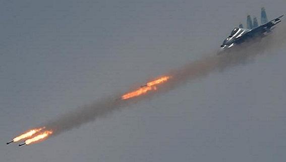 Tiêm kích Nga bất ngờ phóng tên lửa không-đối-không ở Aleppo