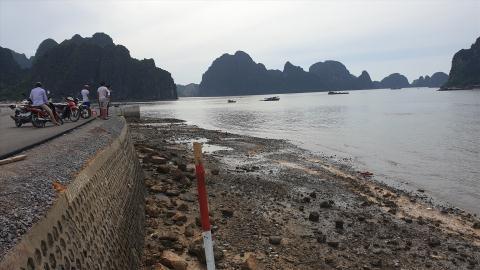 Ô tô lao xuống biển: Có cột tiêu xe vẫn lao sang