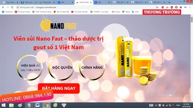 Khẳng định nóng Nano Fast vi phạm quy định về quảng cáo