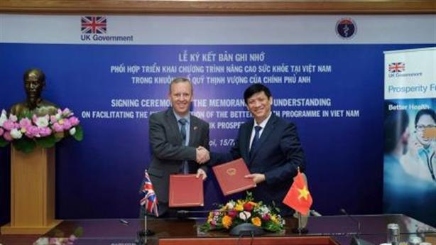 Việt-Anh ký kết biên bản ghi nhớ hợp tác y tế