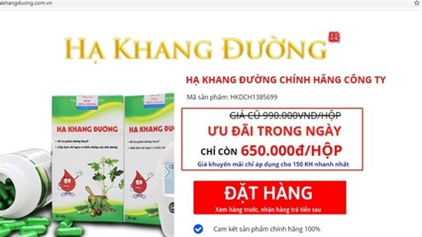 Cẩn trọng mua phải thực phẩm giả Hạ Khang Đường