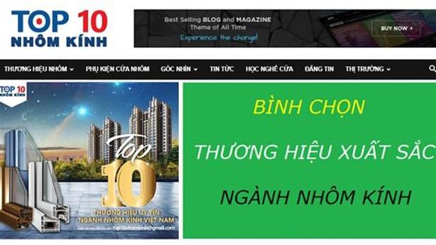 Cập nhật tin mới về thị trường nhôm kính trên website top10nhomkinh