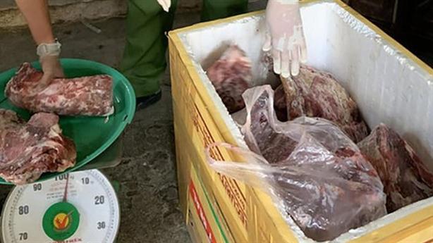Dùng hóa chất biến thịt lợn nái ôi thiu thành thịt bò