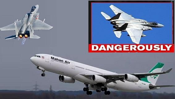 F-15 Mỹ chặn máy bay Iran: Hiện rõ trên màn hình radar
