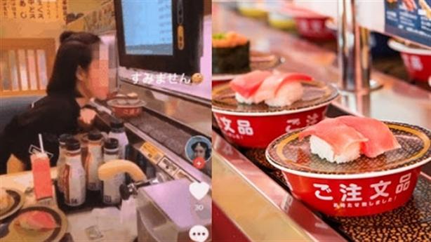 Liếm đĩa sushi trên băng chuyền rồi xin lỗi: Vì sao thế?