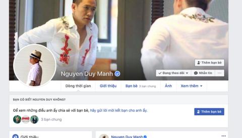 Duy Mạnh ngông cuồng, sai lạc trên facebook