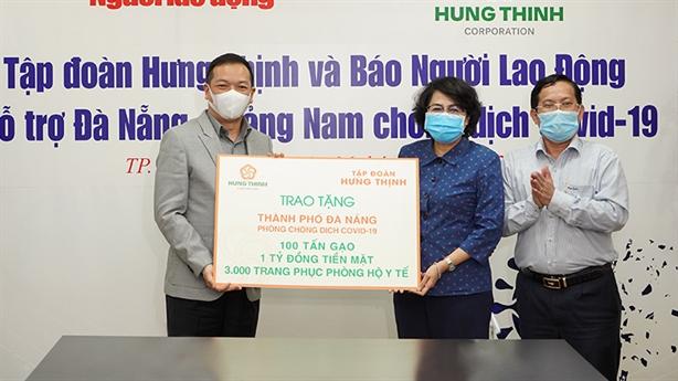 Tập đoàn Hưng Thịnh tiếp sức TP.Đà Nẵng, Quảng Nam chống Covid-19