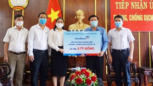VietinBank ủng hộ Đà Nẵng, Quảng Nam 10 tỷ chống dịch COVID-19