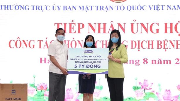 8 tỷ hỗ trợ HN và 3 tỉnh miền Trung chống dịch