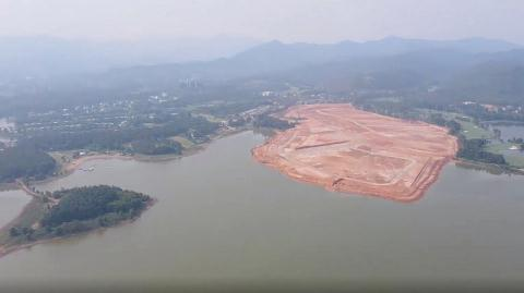 Bộ TN-MT kiểm tra các dự án ven hồ Đại Lải