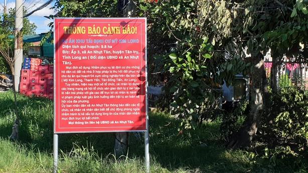 Cảnh báo việc rao bán khu tái định cư Mỹ Kim Long