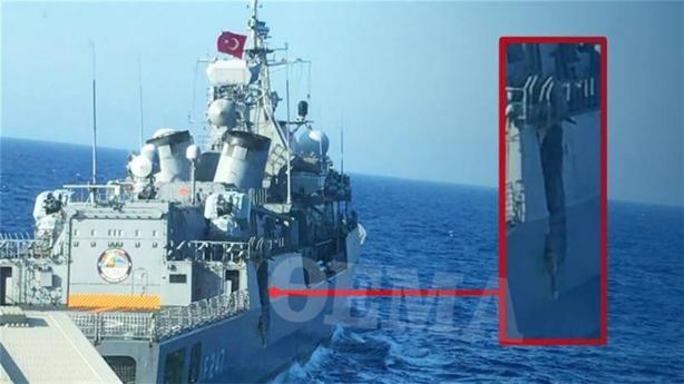 Chiến hạm Ankara hỏng nặng sau khi bị Hy Lạp thử đòn