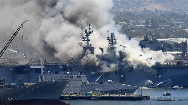 Tàu Bonhomme Richard cháy: Mỹ điều tra theo gợi ý của Iran?