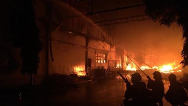 Cháy nhà xưởng Sunhouse miền Nam: Chưa rõ nguyên nhân