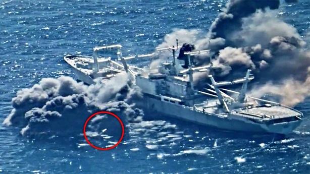 Tàu cũ đứng vững sau 3 phát bắn chí mạng của Harpoon