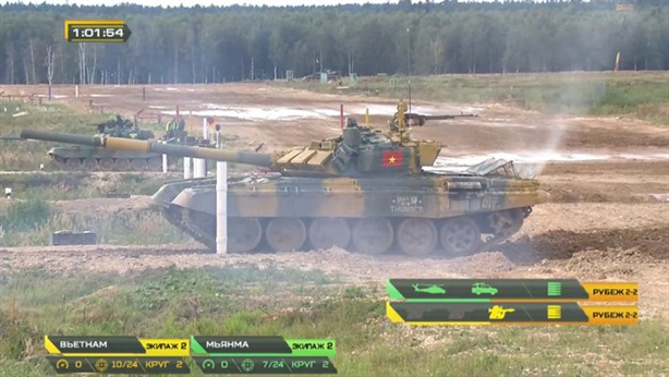 Tuyển tăng Việt Nam thua sát nút tại Tank Biathlon 2020