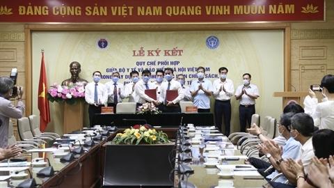 Bộ Y tế và BHXH Việt Nam ký kết quy chế phối hợp