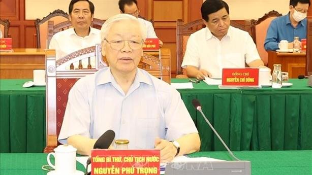 Tổng Bí thư họp Tiểu ban Văn kiện Đại hội XIII