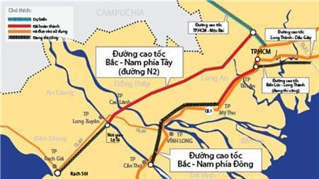 Làm 7 tuyến cao tốc vùng ĐBSCL dài 998km hết 64.554 tỷ