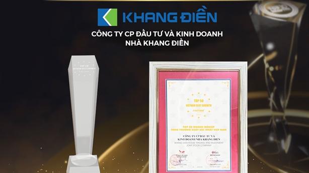 Trao giải Top50 Doanh nghiệp tăng trưởng xuất sắc nhất Việt Nam