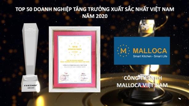 Malloca lọt Top 50 doanh nghiệp xuất sắc nhất Việt Nam
