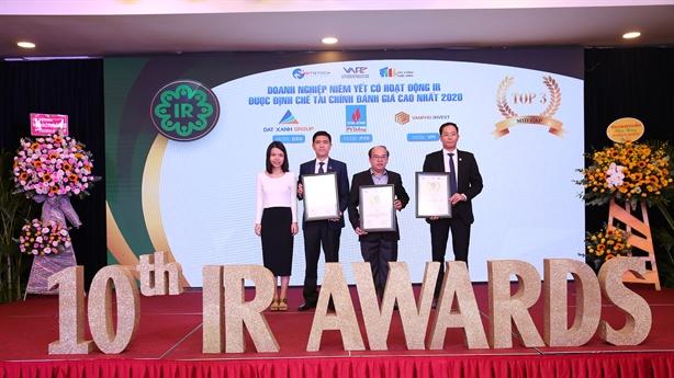 Tập đoàn Đất Xanh lập cú đúp giải thưởng tại IR Awards-2020