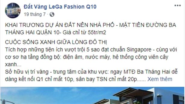 TP.HCM cảnh báo dự án 'ma' Lega Fashion