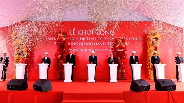 Vingroup khởi công khu du lịch, đô thị ven biển Quang Hanh