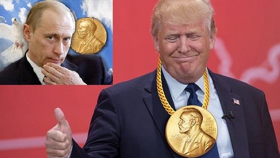 Trump-Putin cùng được đề cử Nobel hòa bình: Ai trước, ai sau…