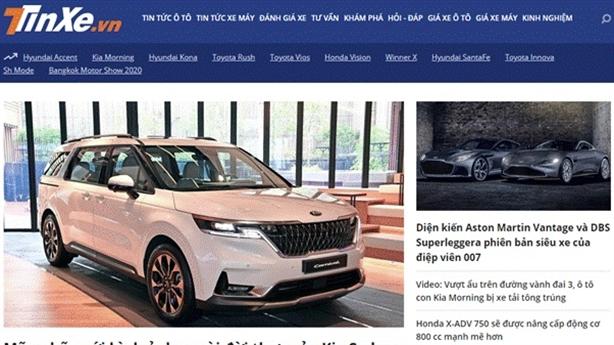 TINXE.VN–tin tức thị trường ôtô trong nước và thế giới