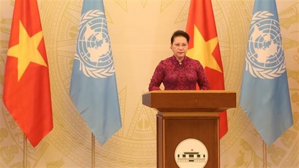 Chủ tịch Quốc hội gửi thông điệp về nữ quyền tới LHQ
