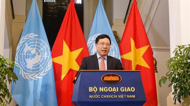 Bộ trưởng Ngoại giao gửi thông điệp về vũ khí hạt nhân