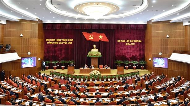 Khai mạc Hội nghị Trung ương 13 khóa XII