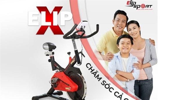 Tăng cường sức khỏe cùng xe đạp tập Elipsport