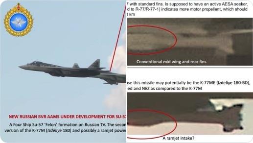 Su-57 Nga đang thử tên lửa R-77M