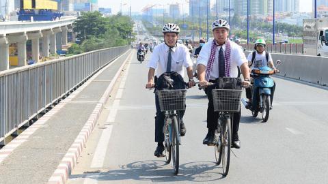 TP.HCM phát triển xe đạp công cộng: Khi đường ngập thì sao?