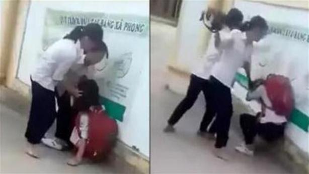 Nữ sinh bị hai bạn đánh đập: Mất điện thoại