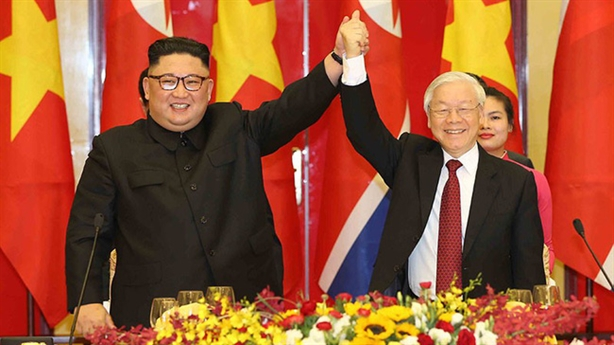 Điện mừng 75 năm thành lập Đảng Lao động Triều Tiên