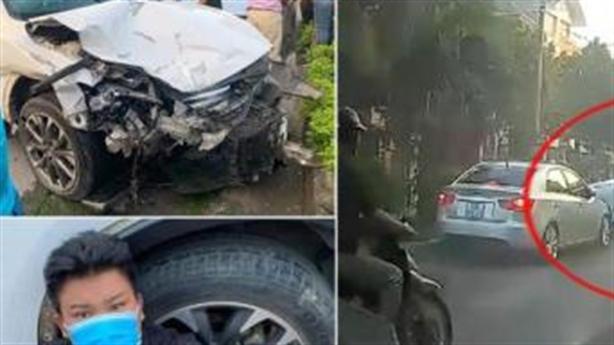 Ô tô Mazda đâm hàng loạt phương tiện: Vượt nồng độ cồn