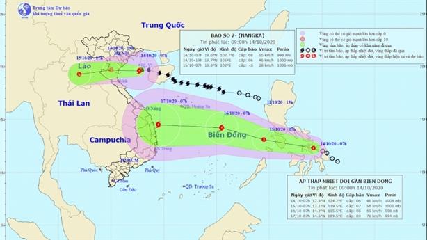 Xuất hiện áp thấp nhiệt đới mới ngoài Biển Đông