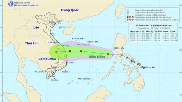 Áp thấp nhiệt đới khả năng mạnh lên thãnh bão