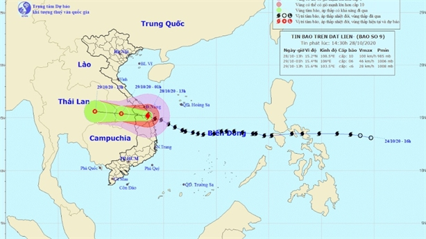 Bão gây gió giật cấp 13-14, nhiều nơi có mưa cực lớn