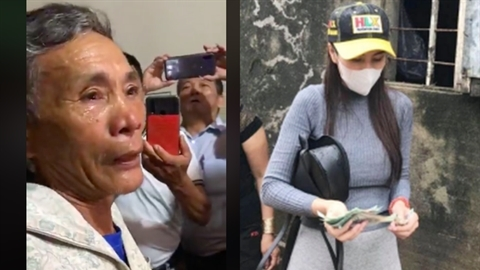 Thủy Tiên trao tiền gây tranh cãi: Lời hai vợ chồng