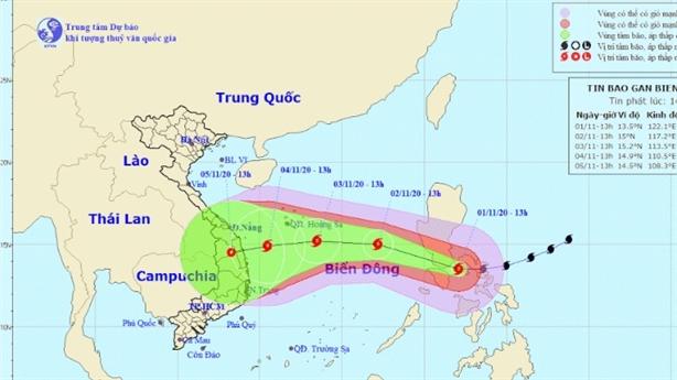 Đêm nay siêu bão Goni đi vào Biển Đông
