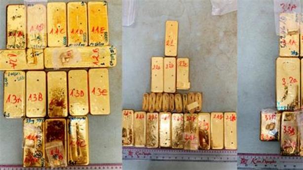 Nhóm vận chuyển 51kg vàng lậu qua biên giới ra đầu thú
