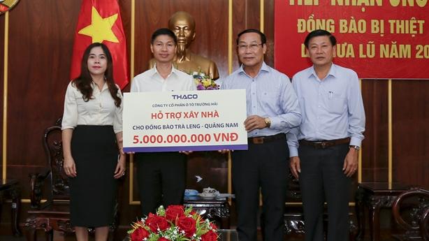 THACO giúp xây dựng lại ngôi làng cho đồng bào Trà Leng